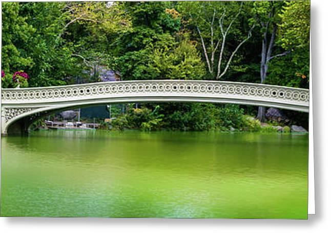 Central Park Bow Bridge Panoramic Greeting Card