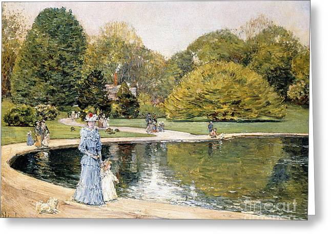 Central Park Greeting Card by Childe Hassam