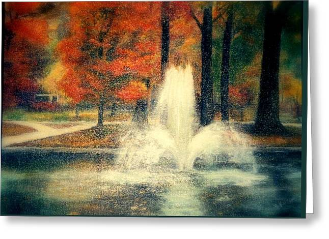 Central Park In Autumn Greeting Card by Gail Kirtz