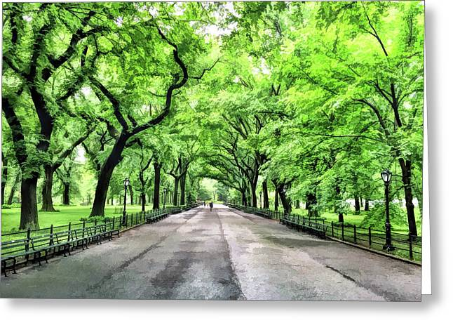 New York City Central Park Mall Greeting Card