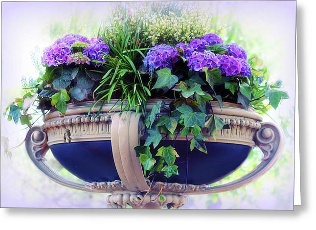 Central Park Planter Greeting Card by Jessica Jenney