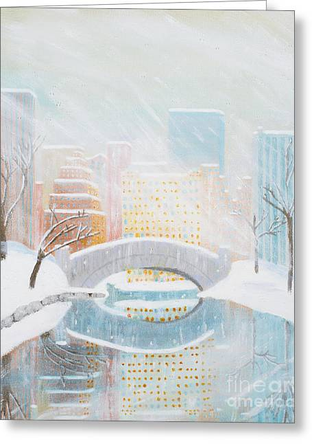 Central Park Snow Greeting Card