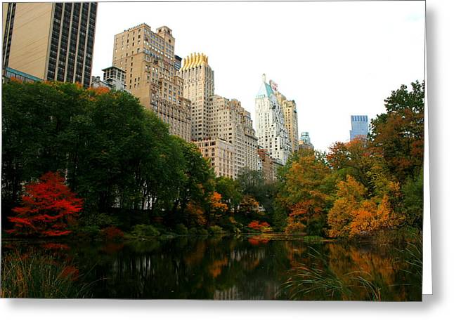 Central Park South Greeting Card by Christopher Kirby