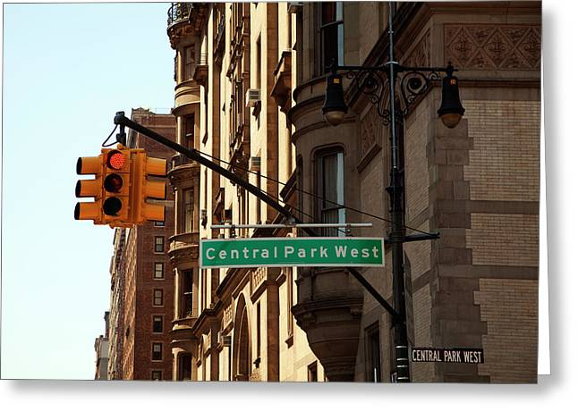 Central Park West Greeting Cards - Central Park West Greeting Card by Madeline Ellis