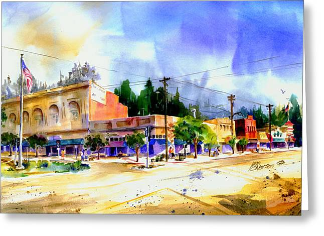 Central Square Auburn Greeting Card