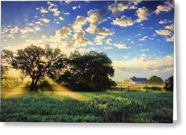 Central Texas Sunrise Greeting Card