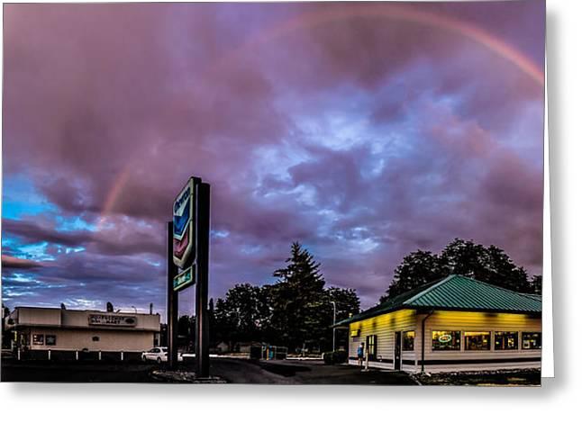 Centralia Rainbow Greeting Card by Tony Porter Photography