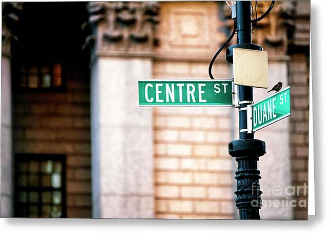 Greeting Card featuring the photograph Centre Street by John Rizzuto