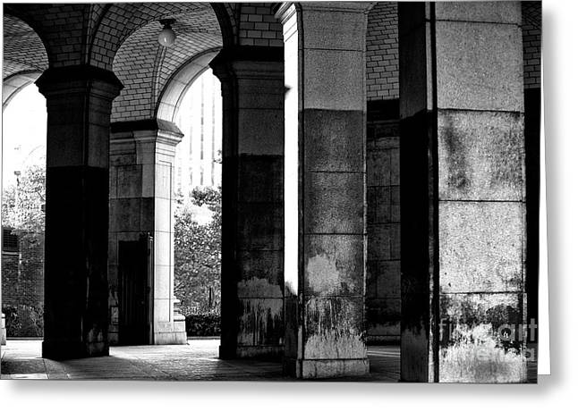 Greeting Card featuring the photograph Centre Street Shadows by John Rizzuto