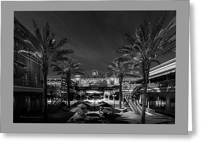 Centro Ybor Bw Greeting Card by Marvin Spates