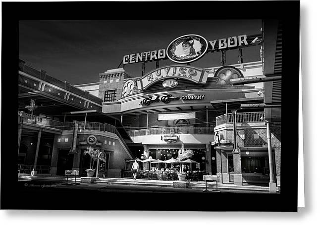 Centro Ybor Greeting Card by Marvin Spates