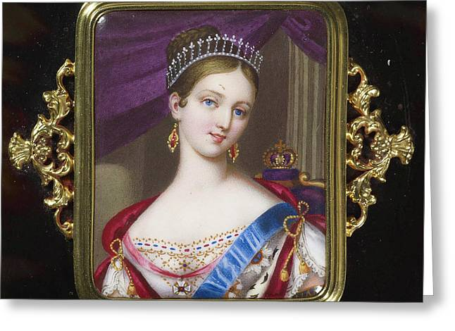 century Queen Victoria Greeting Card by MotionAge Designs