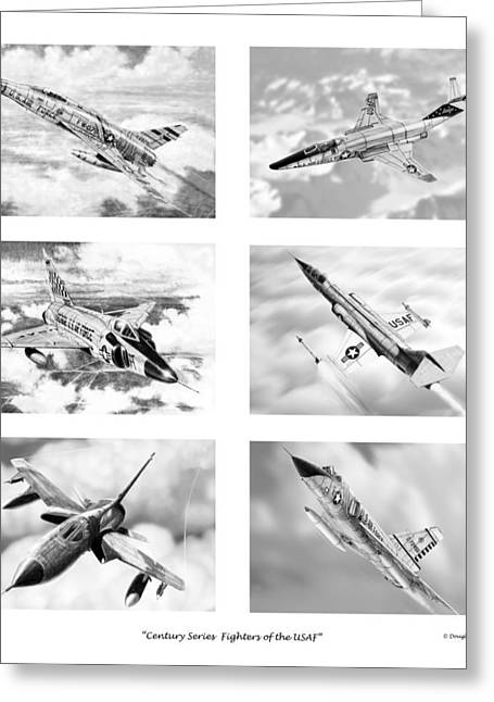 Century Series Drawings Greeting Card