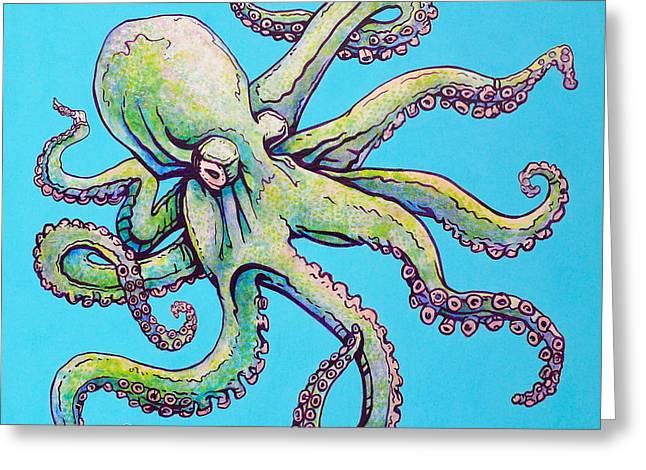 Cephalopod Greeting Card by Jacob Medina