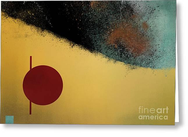 Greeting Card featuring the digital art Ceramic Pixels by Nola Lee Kelsey