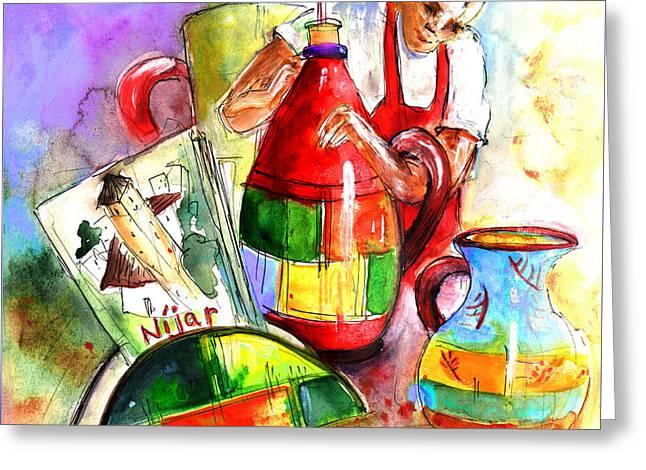 Ceramics From Nijar Greeting Card