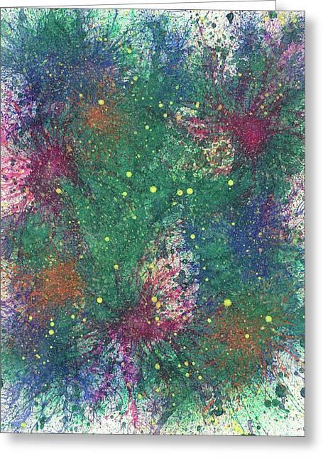Cerebral Rhapsody During A Neurofeedback #580 Greeting Card by Rainbow Artist Orlando L aka Kevin Orlando Lau