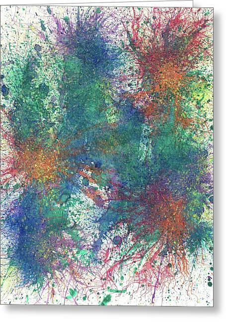 Cerebral Rhapsody During A Neurofeedback #581 Greeting Card by Rainbow Artist Orlando L aka Kevin Orlando Lau