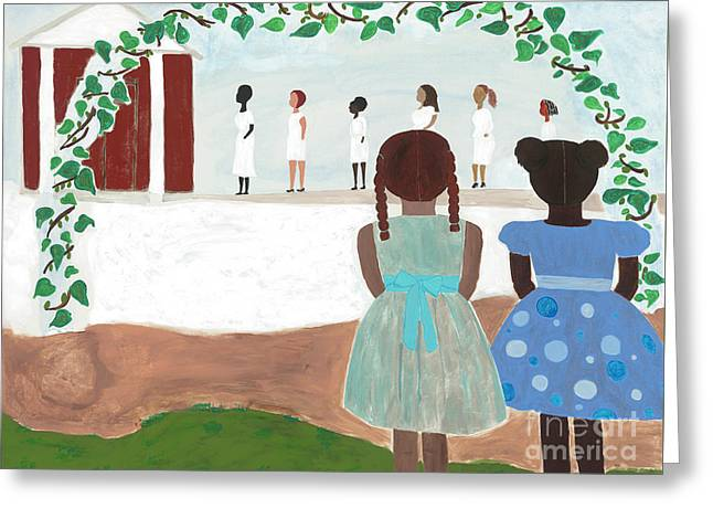 Ceremony In Sisterhood Greeting Card
