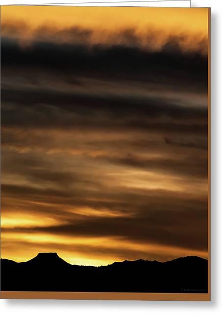 Greeting Card featuring the photograph Cerro Pedernal by Britt Runyon