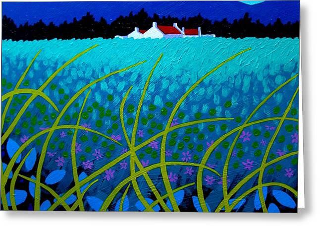 Cerulean Hills Greeting Card by John  Nolan