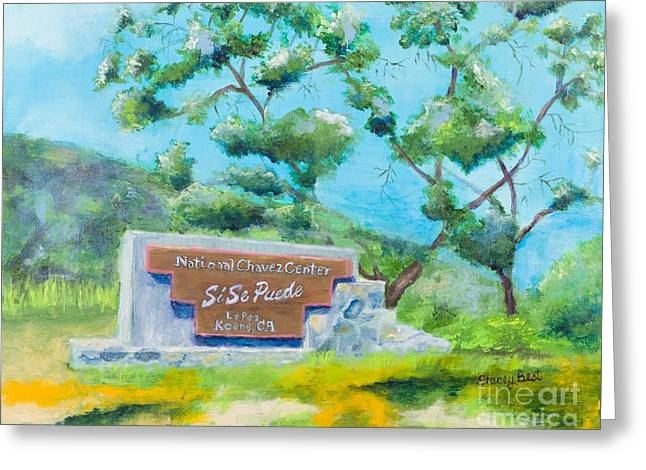 Cesar Chavez National Monument Greeting Card by Stacey Best