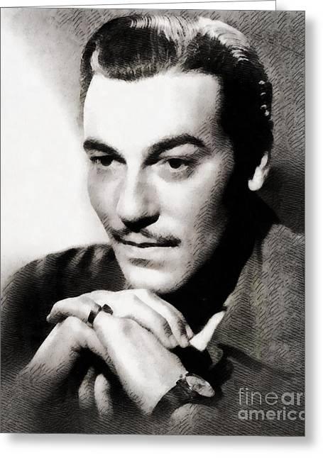 Cesar Romero, Vintage Hollywood Actor Greeting Card