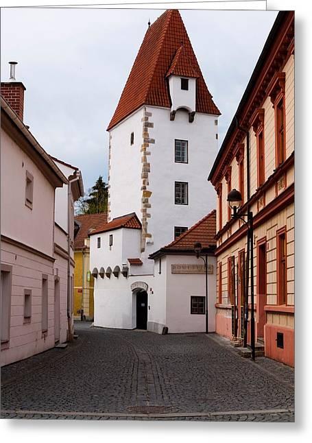 Ceske Budejovice Tower Greeting Card