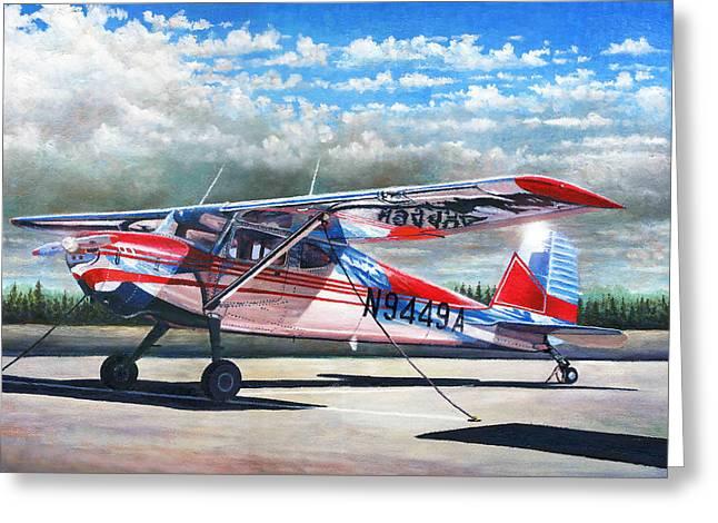 Cessna 140 Greeting Card