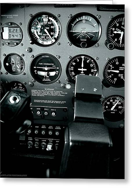 Cessna Greeting Cards - Cessna 172SP cockpit Greeting Card by Lamyl Hammoudi