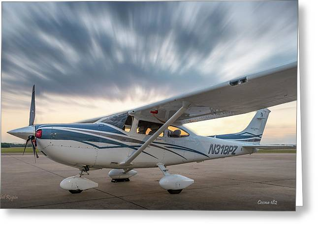 Cessna 182 On The Ramp Greeting Card