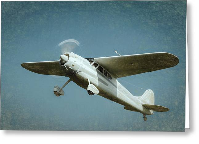 Greeting Card featuring the photograph Cessna 195 by James Barber