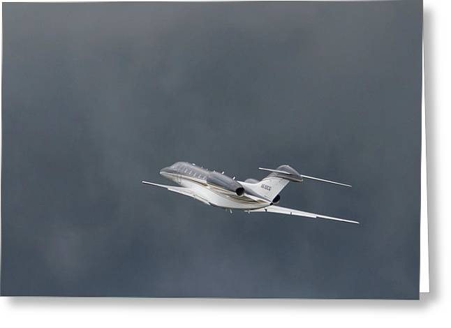 Greeting Card featuring the photograph Cessna 750  by Guy Whiteley