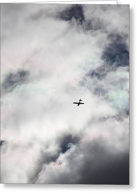 Cessna And Cotton Candy Greeting Card by Penny Hunt