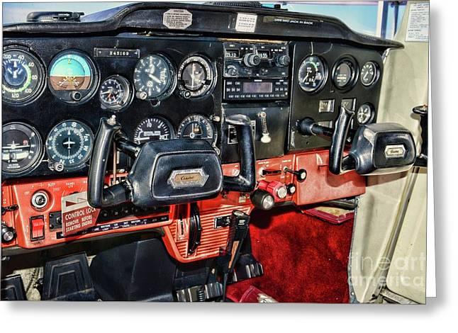 Cessna Cockpit Greeting Card