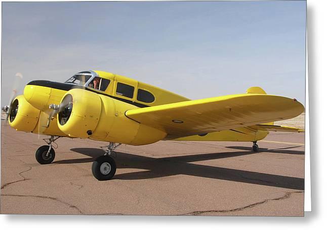 Cessna T-50 Bobcat N59188 Casa Grande Airport Arizona March 5 2011 Greeting Card by Brian Lockett