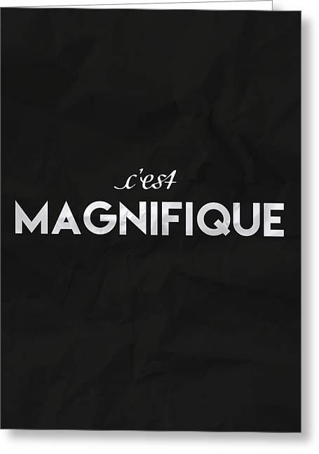 c'est Manifique Greeting Card by Samuel Whitton