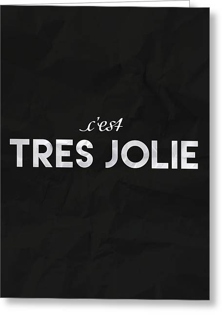 C'est Tres Jolie Greeting Card