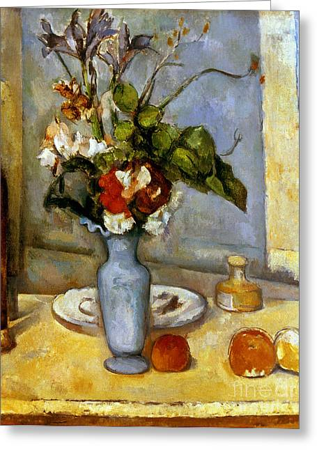 Cezanne: Blue Vase, 1885-87 Greeting Card by Granger