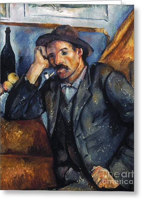 Cezanne: Pipe Smoker, 1900 Greeting Card by Granger