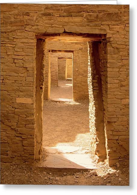 Chaco Ancient Doors   Greeting Card