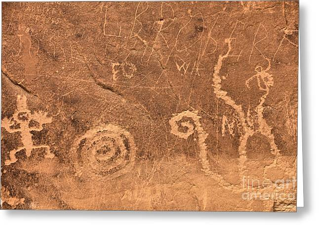 Chaco Canyon Petroglyph Figures Greeting Card