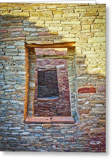 Chaco Canyon Windows Greeting Card by Steven Ralser