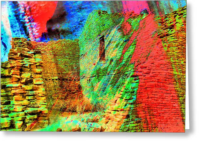 Chaco Culture Abstract Greeting Card by Jeff Swan