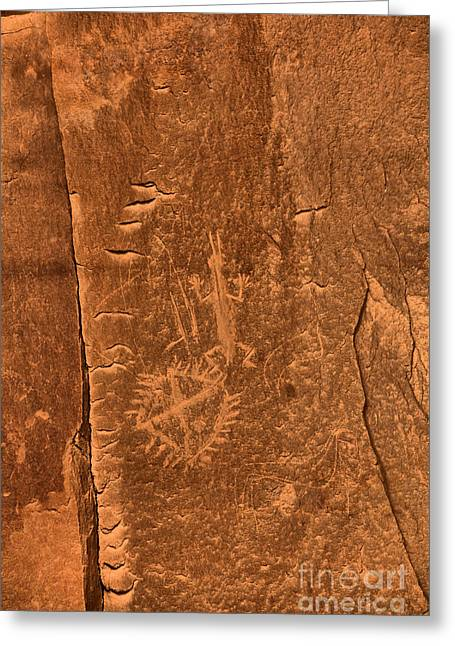 Chaco Petroglyph Figures Greeting Card