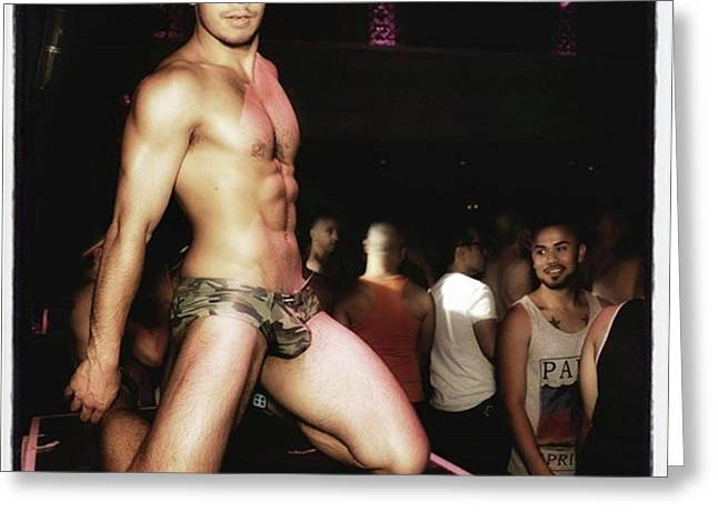 Greeting Card featuring the photograph Chad Stewart. At A Gogo Boy Appearance by Mr Photojimsf