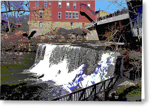 Chagrin Falls  Greeting Card by Charles Shoup
