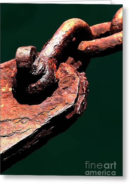 Greeting Card featuring the photograph Chain Age II by Stephen Mitchell