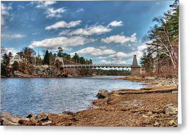 Chain Bridge On The Merrimack Greeting Card
