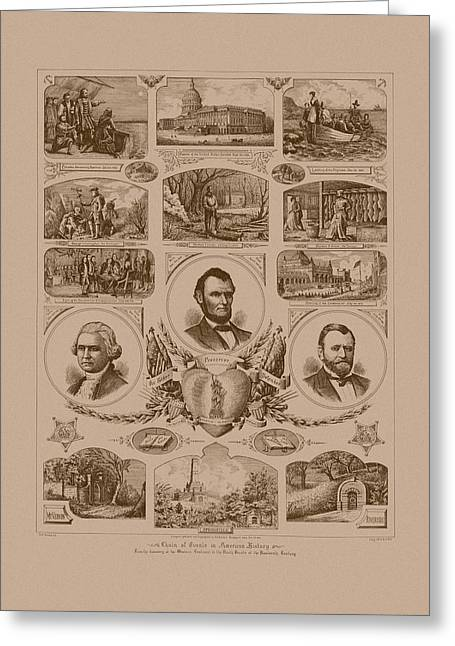 Chain Of Events In American History Greeting Card